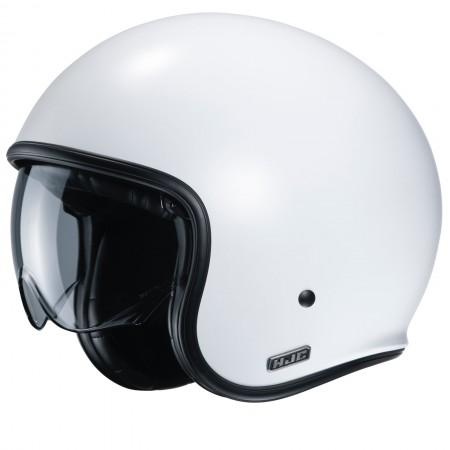 HJC V30 SEMI FLAT P.WHITE